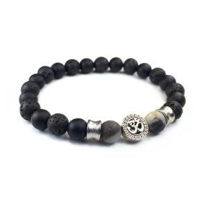 Onyx lava stone OM bracelet