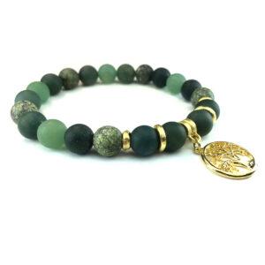 Moss Aventurine Inspirational Bracelet