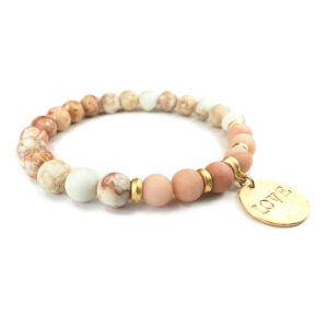inspirational love jasper bracelet